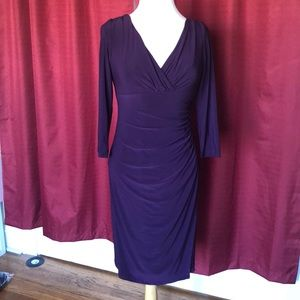 Purple Shift Work Dress